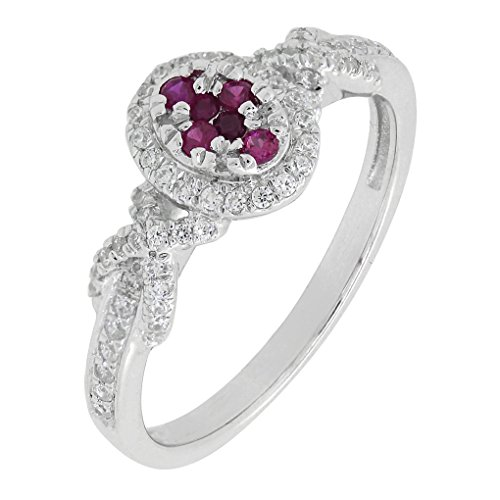 art deco ruby ring - 4
