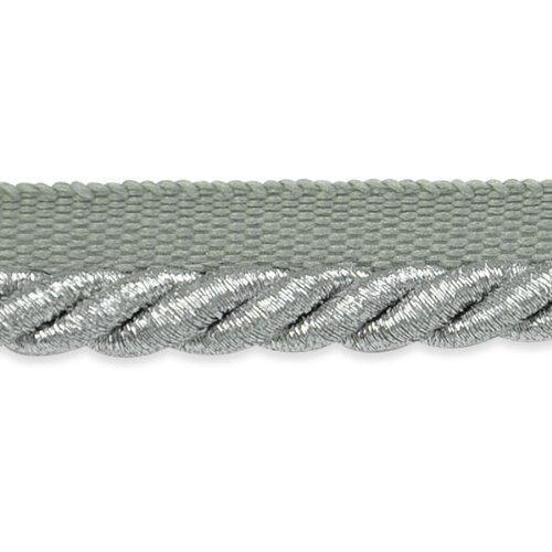 Expo International Gloria 1/4-Inch Metallic Twisted Lip Cord Trim, 20-Yard, Metallic Silver ()