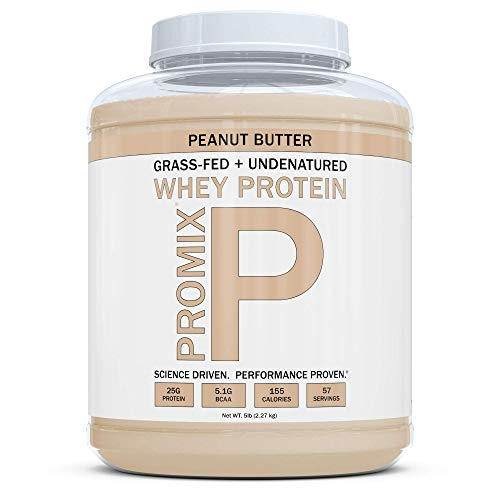 PROMIX Standard 100 Percent All Natural Grass Fed & Undenatured – Best for Optimum Fitness Nutrition Shakes & Energy Smoothie Bowls: Peanut Butter 5 lb Bulk- Look Better Naked Whey Review