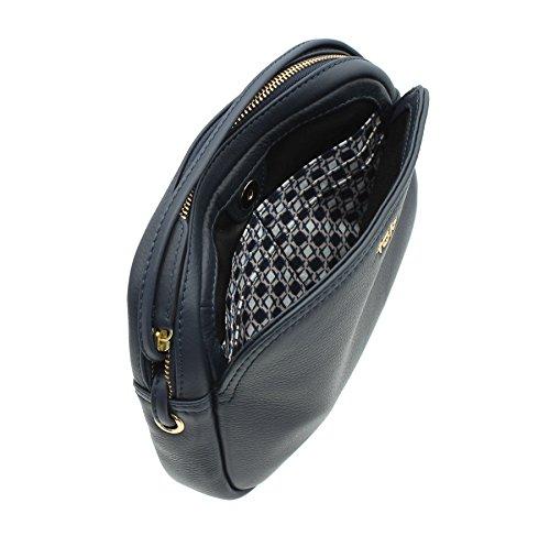 ORIGINALES de NAPPA Tula Zip cuero superior hombro/Cross Body bolso 8385 negro azul marino