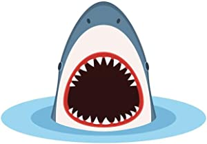 Shark with Open Mouth Coming Out of Water Cubicle Locker Mini Art Poster 8x12