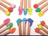 Iwako Cute Animals and Fruits Pencil Top Japanese Erasers (3pcs/bag x 6 set) by Iwako