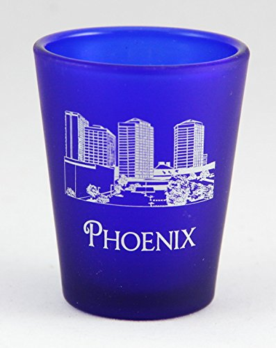 Glass Phoenix Az - Phoenix Arizona USA Cobalt Blue Frosted Shot Glass