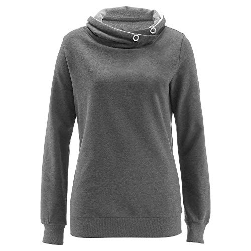 CUCUHAM Women Long Sleeve Solid Turtleneck Cashmere Blouse Pullover Tops Shirt(Gray,X-Large)
