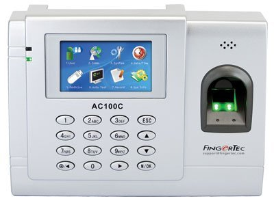 Fingertec Biometric Time and Attendance System of the Future, AC100C This Full Color System Incorporates Fingerprint Verification Technology To Produce Precise Clocking times Storing up to 3,000 Fingerprint Templates + A USB Cable