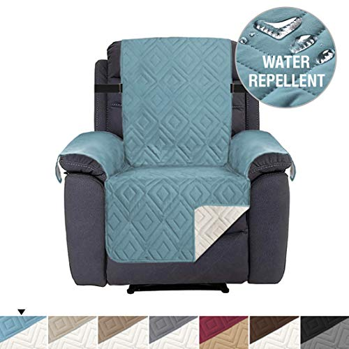 Recliner Cover Reversible Quilted Furniture Protector, Seat Width Up to 22