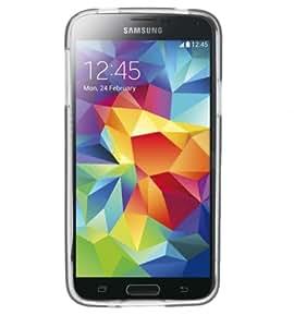 Phonix S900GPW - Carcasa y película de protección para Samsung G900 Galaxy S5, blanco transparente