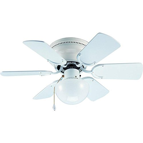 Hardware House 23-8274 Arcadia Ceiling Fan in for Any Room, Office or Area That Needs Circulation, Gloss White