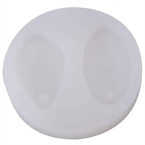 2 en 1 Oval molde de silicona con agujero, DIY resina colgante joyería Making molde