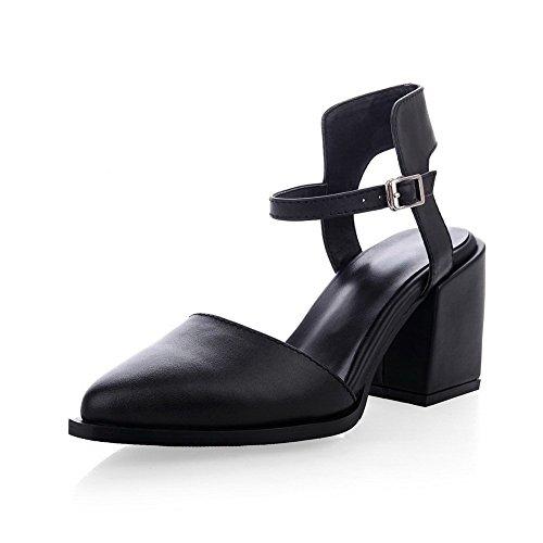 Adee Mujer Sólido pointed-toe Piel Sandalias negro