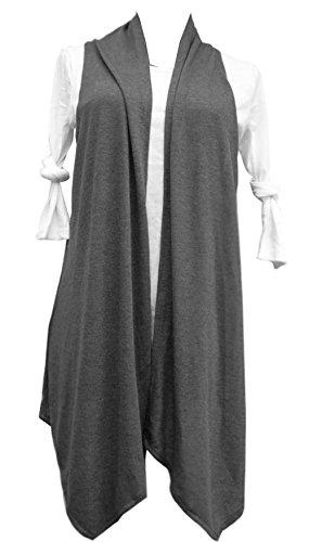 Mooncolour Womens New Arrival Plus-Size Long Vest Sleeveless ...
