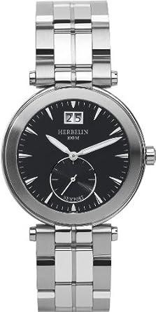 HERBELIN - 18287-14B - Newport Yacht Club - Montres Homme - Quartz - Noir - Bracelet Acier Inoxydable Acier