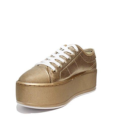 Tessuto Colore in FLBM32 Zeppa 2018 Donna Collezione LEL12 Gold Guess Estate Nuova Articolo Modello con Primavera Media Oro Sneaker wqIWR1F