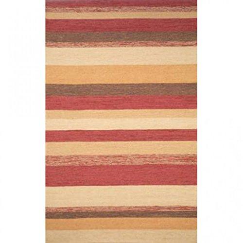 (Ravella Red Stripe Rug Rug Size: 2' x 3')