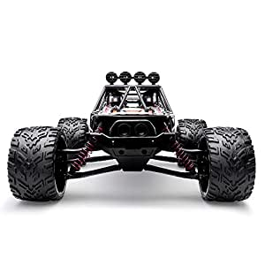 HOSIM RC Truck 9123, 1/12 Scale Radio Controlled Electric Fast Racing Car - High Speed 38km/h Offroad 2.4Ghz 2WD Radio Controlled Monster Truck Truggy - Best  All Car Enthusiast (Orange)