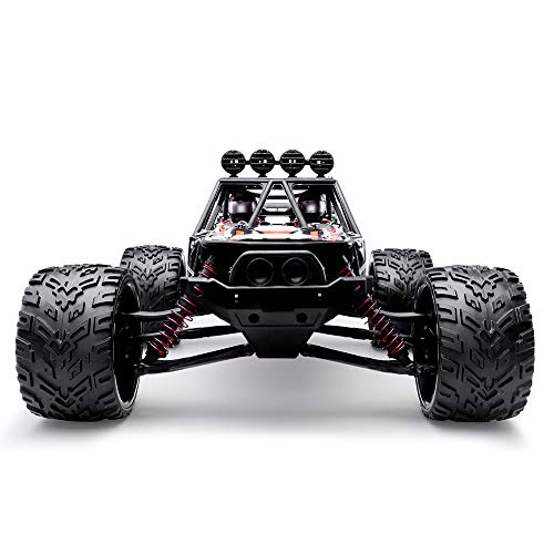 HOSIM RC Truck 9123, 1/12 Scale Radio Controlled Electric Fast Racing Car - High Speed 38km/h Offroad 2.4Ghz 2WD Radio Controlled Monster Truck Truggy - Best Gift for All Car Enthusiast (Orange) (Rtr 1 10 Electric Rc Drift Car)