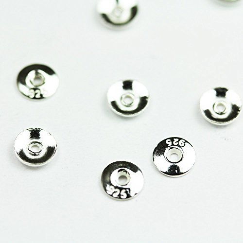 30pcs 925 Sterling silver Jewelry Findings Bead cap,4mm Circle cap,1mm Height, 1mm hole -FDSSC0024