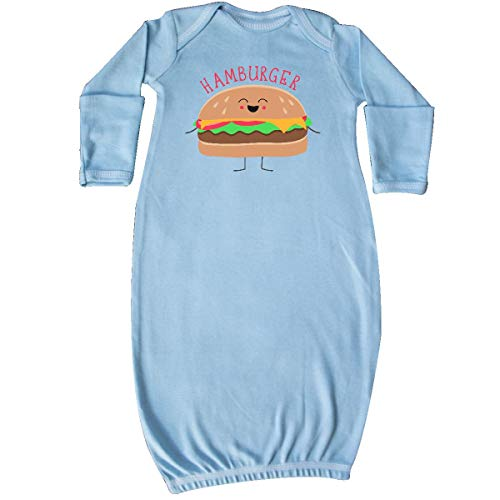 inktastic - Hamburger Costume Newborn Layette Light Blue 31d0b ()