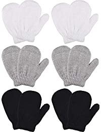 a4ea3faf8be 6 Pairs Stretch Mittens Winter Warm Knitted Gloves for Kids Toddler Supplies