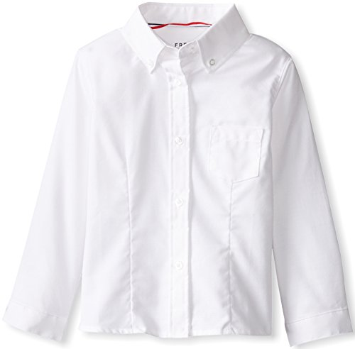 French Toast Little Girls' Long Sleeve Button Down Oxford...