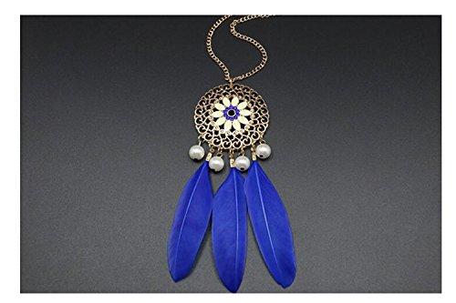 darkey-wang-womens-fashion-jewelry-retro-feather-leaves-necklacebule