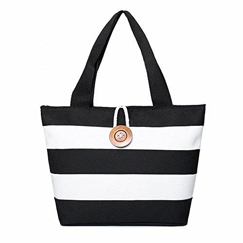 Aoligei Sac à main Fashion stripe forfait spécial coréen version féminine du sac Simple toile A