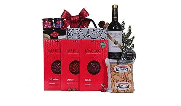 Detalle de navidad BÁSICO con Ibéricos JOSELITO, Tinto D.O. Rioja Crianza y conservas variadas.: Amazon.es: Alimentación y bebidas