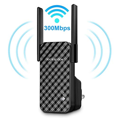 WiFi Range Extender - 300Mbps WiFi Repeater, 2.4GHz Wireless Signal Booster, Easy Set-Up Network Extender N300 Coverage up to Whole Home Perfect for Apartment/Small House/Garage etc.