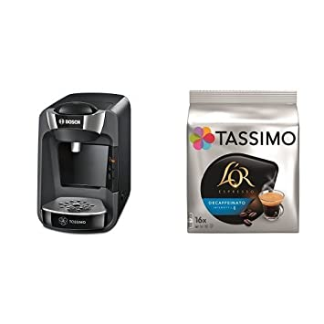 Bosch TAS3202 Tassimo Suny (negro intenso) + Pack café 5 paquetes Tassimo Decaffeinato: Amazon.es: Hogar