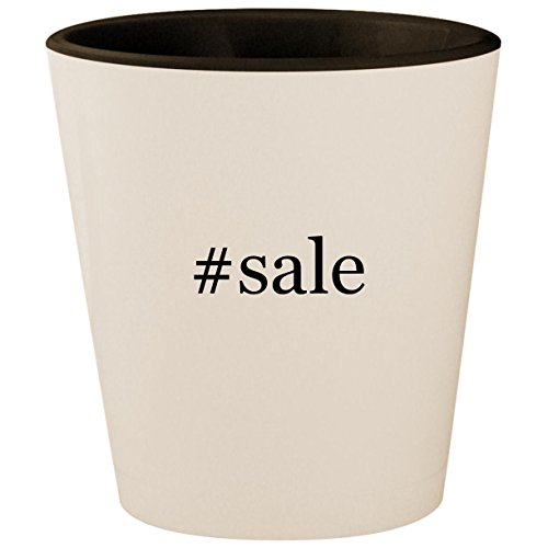 #sale - Hashtag White Outer & Black Inner Ceramic 1.5oz Shot Glass