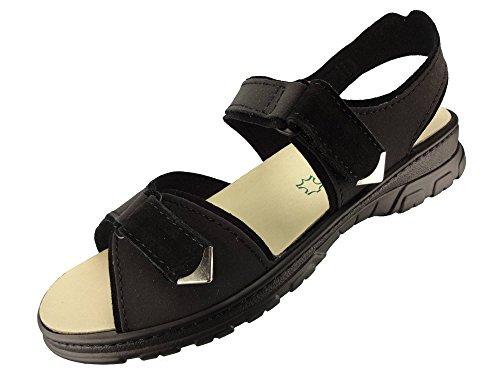 Dames Algemare Trekking Sandales Semelle Intérieure En Liège Algues Lavable En Cuir Nubuck 6478_0803 Mule Sandalette Avec, Taille Amovible: 38
