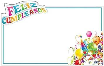 Amazon.com: LuftBalloons Capri Cards - Feliz Cumpleanos ...