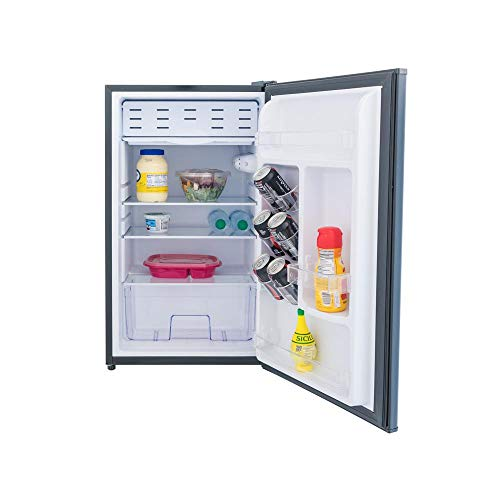 3.3 Cubic Foot Refrigerator with Freezer (Black)