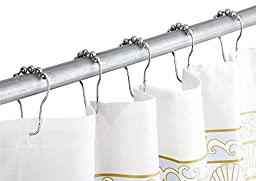 Shower Curtain Hooks - Set of 12 - The Shower Curtain Rings Glide Smoothly and Effortlessly Preventing Damage. Polished Chrome Rust-Free Material Ensuring a Great Appearance. Durable and Made to Last.