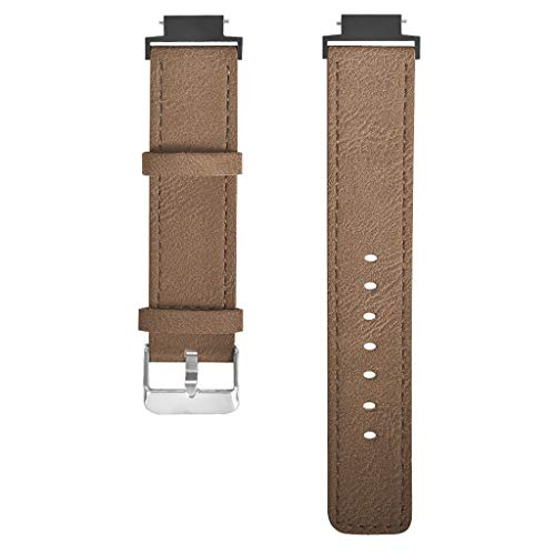 Leather Watch Band for Xiaomi Huami Amazfit Verge Youth,Luxury Replacement Rugged Leather Smart Watch Strap Bracelet Accessories Pin Buckle Wristband Strap for Xiaomi Huami Amazfit Verge Youth Watch