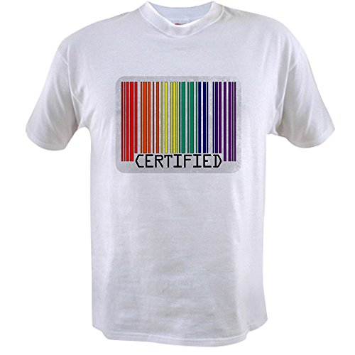 Royal Lion Value T-Shirt Gay Certified Pride Bar Code - Large (Value T-shirt Code)