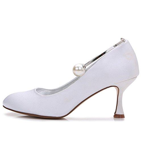 L@YC Damen High Heels Hochzeit Ball T-17061-63 Closed Toe Perlen abend Party & Hochzeit Benutzerdefinierte Schuhe Purple