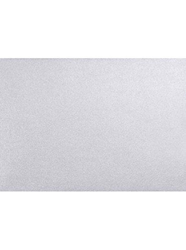 A1 Flat Card (3 1/2 x 4 7/8) - Silver Metallic (50 Qty.) Silver Shimmer Flat Card