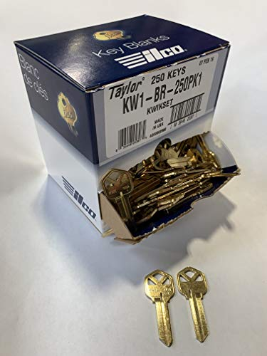 Kaba Ilco KW1-BR-250PK Blank Kwikset Key (250 Pack) ()