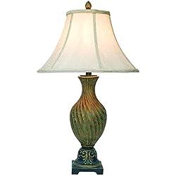 OK LIGHTING 29 in. Antique Brass Table Lamp
