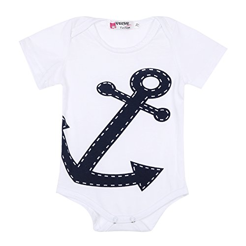 Cute Sailor Girl Costumes (Hotone Cute Baby Boy Girl Sailor Costume Suit Grow Outfit Romper Pants Jumpsuit 0-36m (0-6 Months))