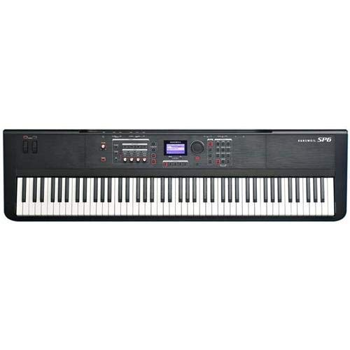 Kurzweil SP5-8 88 Key Stage Piano with Fully-Weighted Graded Hammer-Action and Velocity and Pressure Sensitive Adjustable Keys