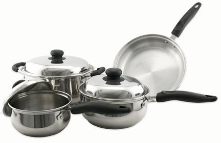 Classic Stainless Cookware Set, 7 Piece Cookware