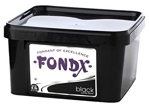 FONDX Rolled Fondant 5 lb - Vanilla Flavor, Black]()