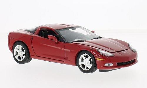 Motormax 2005 Chevrolet Corvette C6 Coupe Red 1/24 Diecast Model Car Chevrolet Corvette C6 Coupe