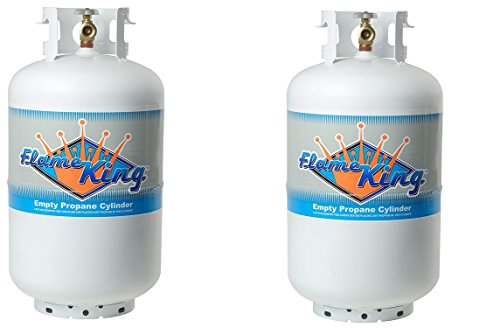 Flame King YSN-301 30-Pound Propane Cylinder with Type 1 Overflow Protection Device Valve (2) by Flame King