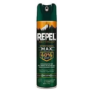 Repel 33801 6-1/2-Ounce Sportsmen Max Formula Insect Repellent Aerosol 40-Percent DEET Spray, Case Pack of 1