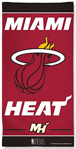 NBA Miami Heat Fiber Beach Towel, 30 x 60-Inch by WinCraft