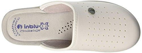 In Blu Tosca, Zapatos de Trabajo para Mujer Blanco (Bianco)