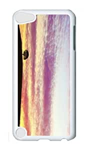 Ipod 5 Case,MOKSHOP Cool wonderful sunset Hard Case Protective Shell Cell Phone Cover For Ipod 5 - PC White